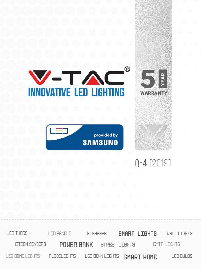 scarica il catalogo completo illuminazione led v-tac con chip samsung e 5 anni di garanzia